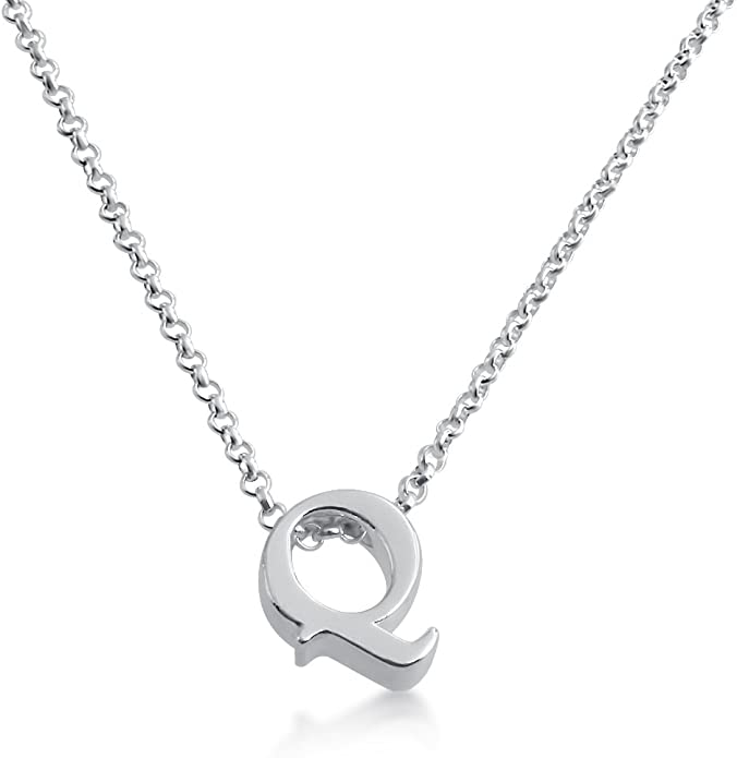 Azaggi Initial Letter C Personalized Serif Font Small Pendant Necklace Thin 1mm Chain Holiday Gift Jewelry Gift