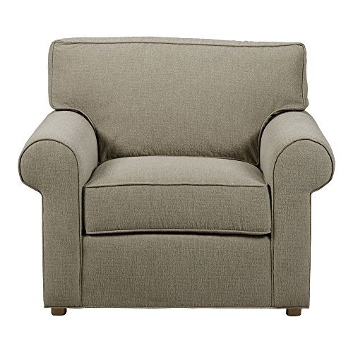 (Ethan Allen Retreat Roll-Arm Chair, Palmer Fog)