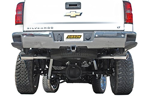 Gibson 5662 Super Truck Aluminized Cat-Back Exhaust System (Super Truck Exhaust Cat)