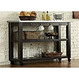 Liberty Furniture Keaton II Dining Server, Charcoal Finish