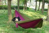Parachute Nylon Hammock Travel Camping Outdoor Sleeping Bed For Two Person.