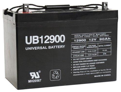 - Universal Power Group 12V 90Ah Group 27 Premier Crestliner Pontoon Trolling Motor AGM Battery