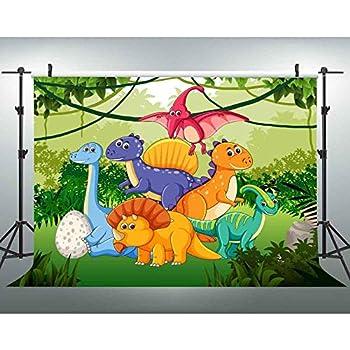 Amazon.com : 7x5ft Cartoon Backdrop Dinosaur Family