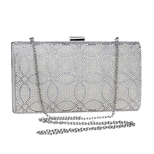 sera Bag Dress Dinner American European Ladies Clutch Vola argento Borsa Bag Bag Evening da Banquet RfpxYq