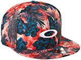 Oakley Men's Mesh Sublimated Hat, Red Line, One Size