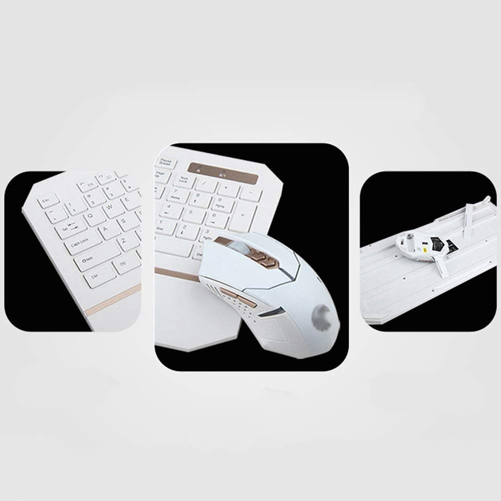 Waterproof Wireless Keyboard and Mouse Combo Long Range Wireless Connection with Ergonomic Wrist Rest 2.4G Stable Connection