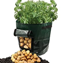 OKOKMALL US--Potato Grow Planter PE Container Bag Pouch Root Plant Growing Pot Side Window