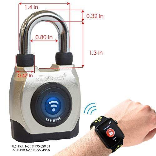 eGeeTouch Outdoor Smart Padlock 3rd Gen, Weatherproof, Bluetooth + NFC (Short Shackle) by eGeeTouch (Image #4)
