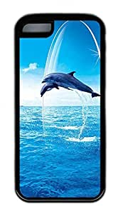 Distinct Waterproof Spectacular Dolphins Dance0 Design Your Own for iphone 4/4s Case