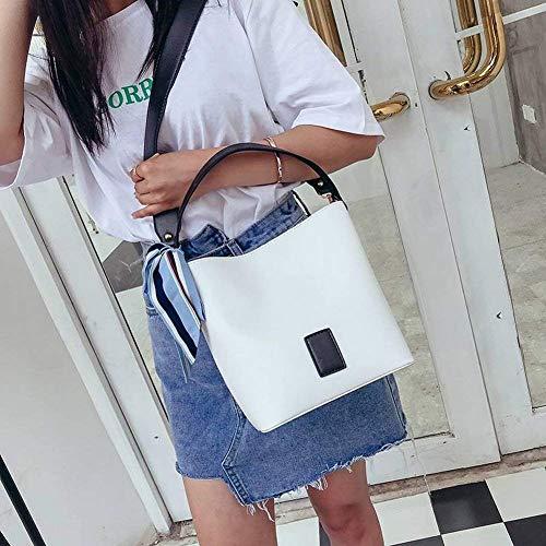 Salvajes Mujer Computadora Cremalleras Girls Identificación De Hombro Correas Solo Fresh Bolsos Coreano Negro Anchos Cubo Trendy Cubos ORnzPnU