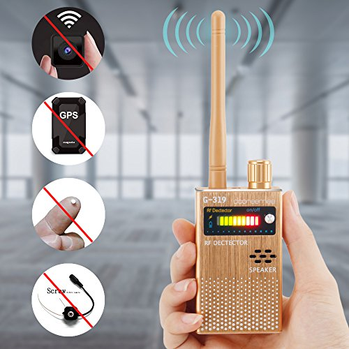 Dooreemee Anti-spy Electronic Bug Detector Hide Camera RF Signal Detector  [Upgraded Version],GPS Tracker Wireless Radio Frequency Ultra-high