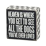 Primitives by Kathy Box Sign, 4-Inch by 4-Inch, All The Dogs
