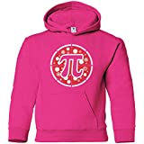 Threadrock Kids Pizza Pi Youth Hoodie Sweatshirt L Fuchsia