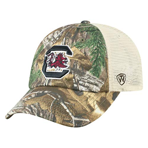 NCAA South Carolina Fighting Gamecocks Men's Camo Stock Adjustable Mesh Icon Hat, Real Tree