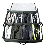 ACMETOP Under Bed Shoe Organizer | Under Bed Shoe Storage Bag | Breathable Materials & Flexible Zippered | Underbed Shoes Closet Storage Solution for Sneakers,Heels,Flats (8 Cell)