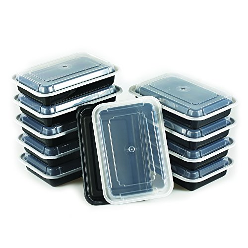 Meal Prep Containers 1 Compartment by NimNik, 10 Pack Lunch