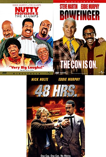 Eddie Murphy Comedy Collection Bowfinger / 48 HRS & The Nutty Professor The Klumps DVD Movie Bundle Triple Feature