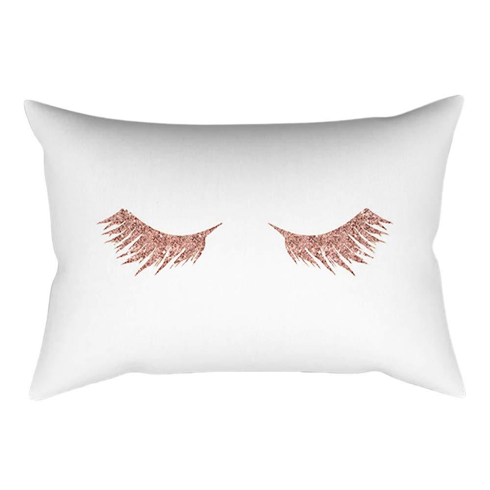 Pillow Case Rose Gold Geometric Pineapple Glitter Cushion Cover Sofa Decor Bu