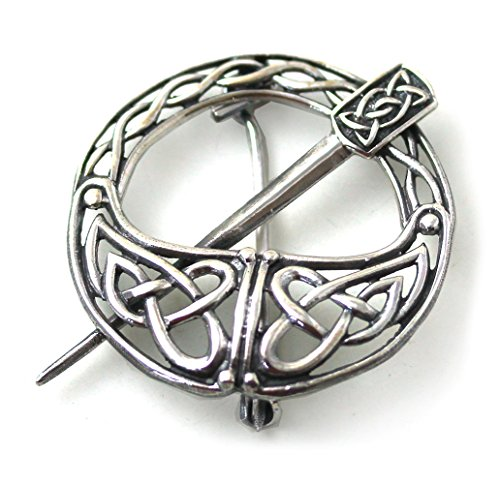 925 Sterling Silver Tara Filigree Celtic Knot Brooch - Cloak Shawl Scarf Pin Norse Irish Vintage (Knot Brooch Pin)