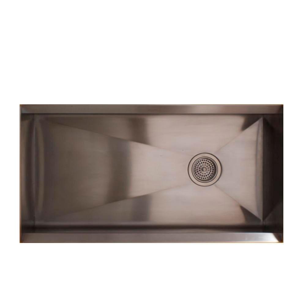 Kohler k 3673 na 8 degree large single kitchen sink single bowl sinks amazon com