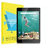 MoKo Google (HTC) Nexus 9 Screen Protector, [Scratch Terminator] Premium HD Clear 9H Hardness Tempered Glass Screen Protector Film with Oleophobic Coating for Google Nexus 9 8.9 Inch Tablet