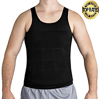 Roc Bodywear Mens Slimming, Compression shirt and Body Shaper. Top Rated (Md, Black)