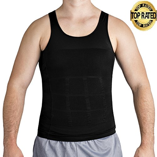 Compression Shaper Body (Roc Bodywear Mens Slimming, Compression shirt and Body Shaper. Top Rated (Lg, Black))