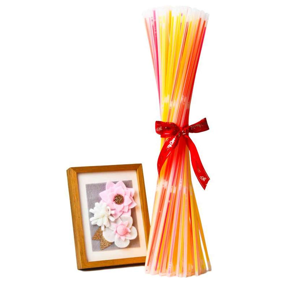Glow Sticks Bulk 100ct 22inches Glow Necklaces Aqua Packed in Tube Extra Bubble Wrap Connectors 22