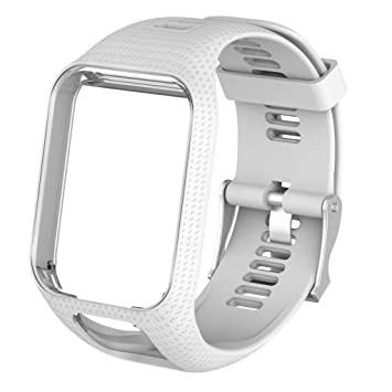 B Blesiya 1 und Correas de Silicona Reloj Inteligente Smartwatch para Tomtom Duradero - Blanco