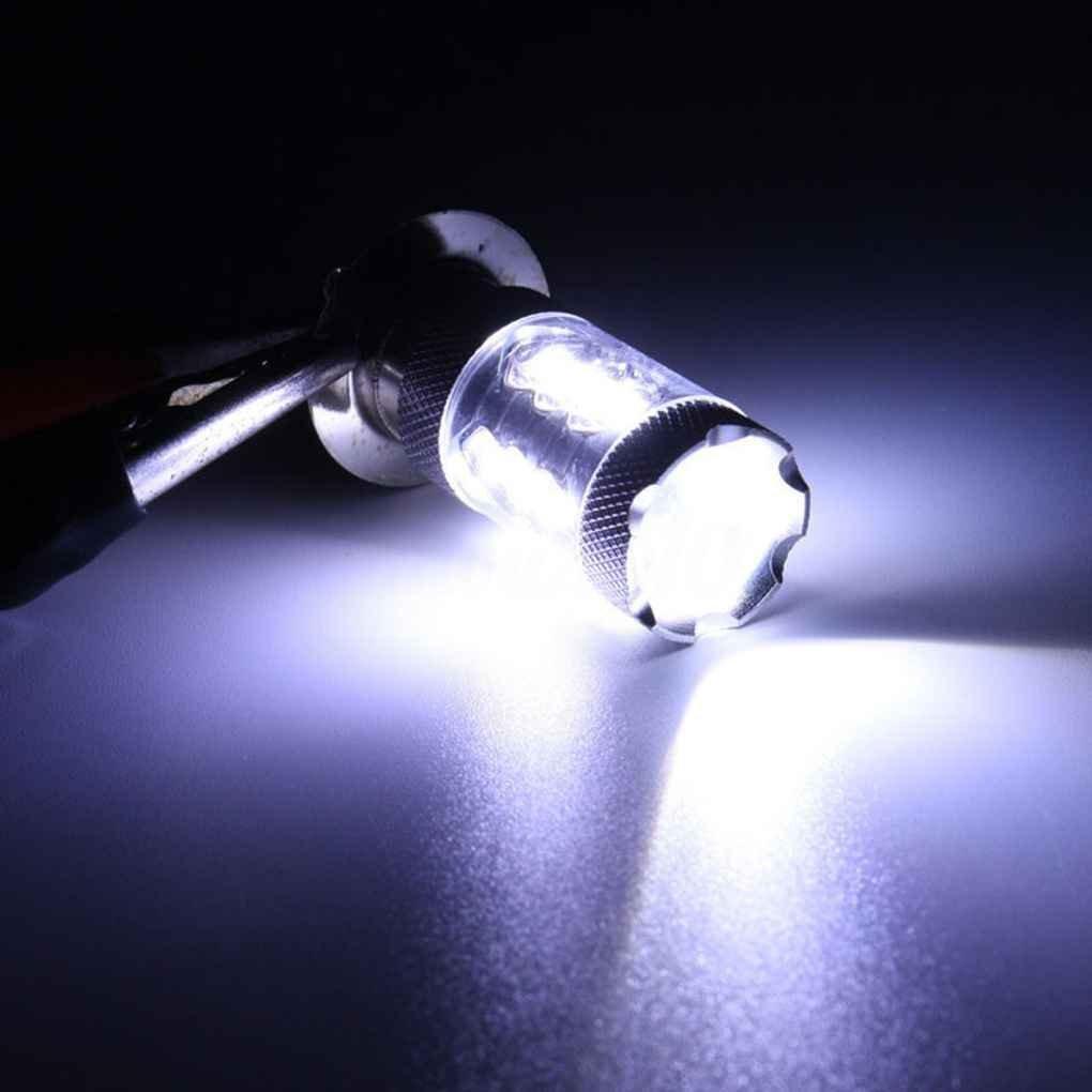 2 piezas de PX15D H6 80W 16 LED de la motocicleta Luces de manejo de motos linterna LED bulbos de l/ámparas Conjunto Doble tent/áculos Topker