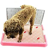 Synturfmats Newest Design Indoor/Outdoor Pet Potty Puppy Toilet with Simulation Wall for Male Dog Pee Training Pad