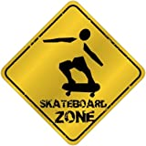 "New "" Skateboard Zone "" Crossing Sign Sports"