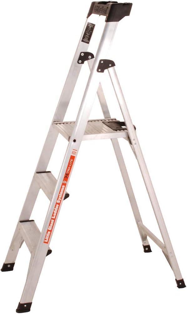 TB Davies 1216-010 Little Giant Xtra-Lite Escalera de 3 peldaños con plataforma, delgada y ligera, plata: Amazon.es: Bricolaje y herramientas