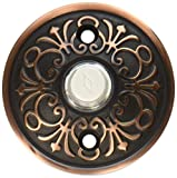 Solid Brass Lancaster Style Buzzer Button In Oil Rubbed Bronze. Brass Door Bell Button.