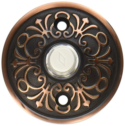 (Solid Brass Lancaster Style Buzzer Button In Oil Rubbed Bronze. Brass Door Bell)
