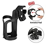 Kyпить Bike Cup Holder/Stroller Bottle Holders, Upgrade Edition 360 Degrees Universal Rotation Antislip Cup Drink Holder for Baby Stroller/Pushchair, Bicycle, Wheelchair, Antiskid Pad Included на Amazon.com