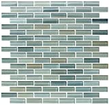 10 Sq Ft - Reflections Hand Painted Glass Mosaic Subway Tiles