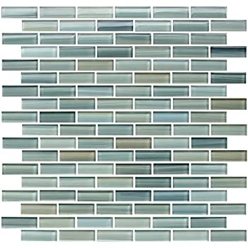 Sample - Reflections Hand Painted Glass Mosaic Subway Tiles