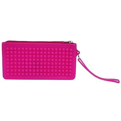 Estuche de silicona de color rosa: Amazon.es: Oficina y papelería