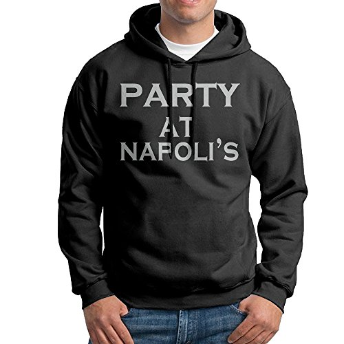 Best Party At Napolis Wordmark Logo Hooded Sweatshirt]()