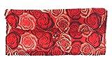 HiyaHiya Circular Knitting Needle Case - 27 Pockets Brocade & Cotton (Red Roses)