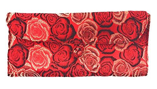 HiyaHiya Circular Knitting Needle Case - 27 Pockets Brocade & Cotton (Red Roses) by HiyaHiya