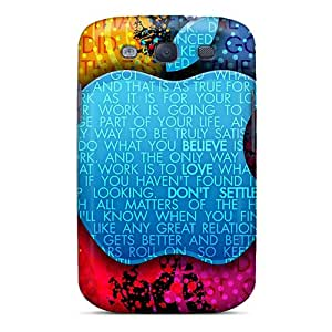 Excellent Design Steve Jobs Thoughts Phone Case For Galaxy S3 Premium Tpu Case