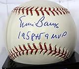 "Ernie Banks Autographed Official MLB Baseball Chicago Cubs ""1958 +59 MVP"" Graded 9.5 PSA/DNA Stock #74052"