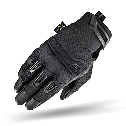 Shima AIR LADY, Vented Women Protective Lady Fit Summer Leather Classic Urban City Motorbike Gloves (XS-L), Black, - Day Next Mean Shipping Air