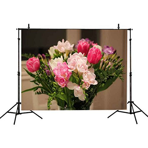 VVM 7x5Ft Fresh Style Backdrop Flower Arranging Art Photography Background Beautiful Flower Backdrop for Pictures YouTube Backdrop - Art Flower Arranging