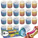 ChefSlime Barrel O Slime Mud Sludge Putty - Wet, Non Sticky, Stress Relief, Super Soft & Squishy Toy for Kids |Jumbo Pack | 24 Pcs