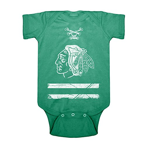 fan products of NHL Chicago Blackhawks Beeler Infant Creeper Onesie, 12 Months, Kelly