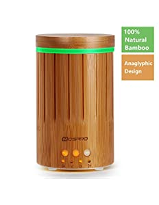 MOSPRO Real Bamboo Essential Oil Diffuser, Ultrasonic...