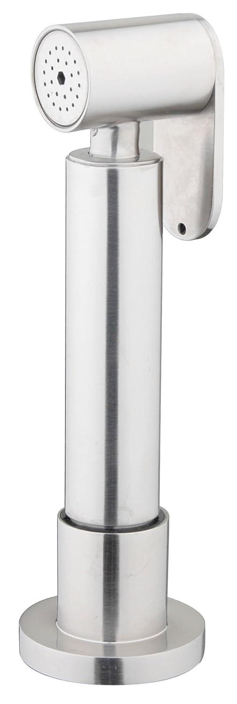 DeLanwa Massiv Edelstahl Kü che Spü lbrause mit Arbeitsplatte Halter und Flex schlauch Ausziehbar Geschirrbrauseschlauch, 160 cm, 607121.0